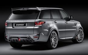 Картинка фон, тюнинг, Спорт, джип, внедорожник, Land Rover, Range Rover, вид сзади, tuning, Sport, Ленд Ровер, ...