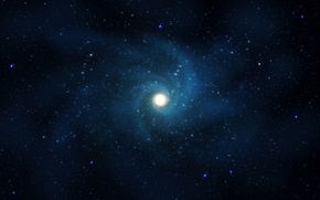 Картинка звезды, свет, синева, галактика