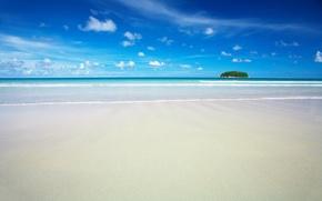 Картинка песок, море, пляж, рай