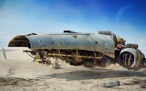 Картинка пустыня, техника, Vulture, Tamas Gyerman