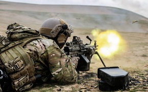 Картинка Afghanistan, United States Spec Ops, M249 Squad Automatic Weapon