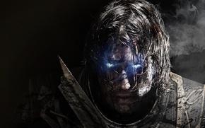 Обои Взгляд, Дым, Свет, Воин, Призрак, Экипировка, Warner Bros. Interactive Entertainment, Monolith Productions, Middle-earth: Shadow of ...