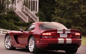 Обои красный, Додж, Dodge, Viper