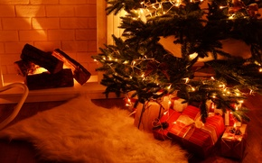 Картинка украшения, игрушки, елка, Новый Год, Рождество, камин, Christmas, merry, Xmas, decoration, fireplace