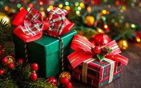 Обои подарки, коробки, бант