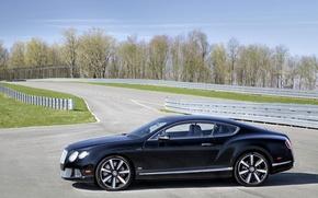 Картинка Bentley, вид сбоку, track, car, авто, Continental GT Speed, Le Mans Edition