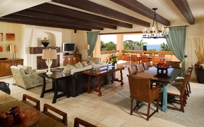 Картинка дизайн, дом, диван, стулья, телевизор, кресла, столы, балкон, камин, house, interior, home, desigen, ваза.