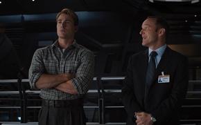 Картинка команда, агент, Marvel, Капитан Америка, супергерои, Крис Эванс, Мстители, The Avengers, S.H.I.E.L.D, Щ.И.Т, Марвел, организация, ...