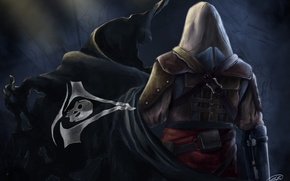 Картинка флаг, Эдвард Кенуэй, Assassin's Creed IV: Black Flag, черный флаг