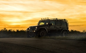 Картинка car, джип, внедорожник, black, jeep wrangler, sahara