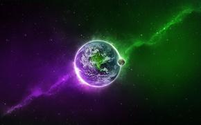 Обои цвет, земля, Планета