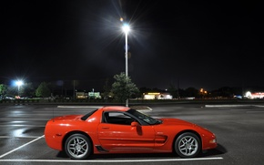 Картинка corvette, auto, night, sport car