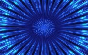 Картинка лучи, линии, синий