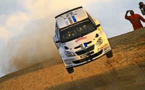 Картинка прыжок, ралли, WRC, шкода, s 2000, Skoda Fabia