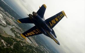 Картинка авиация, USA, sky, Blue Angels