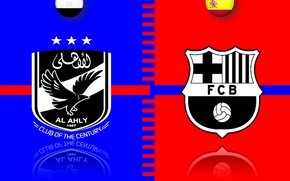 Картинка red, logo, white, black, leopard, yellow, Barcelona, Spain, FCB, egypt, Barca, ahly, alahly