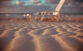 Картинка песок, закат, природа, океан, берег, Куба