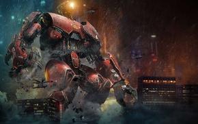 Картинка Pacific Rim, Тихоокеанский рубеж, Crimson Typhoon, китайский робот