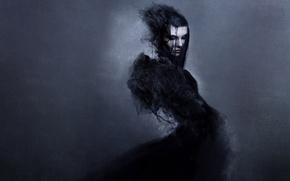 Картинка девушка, стиль, готика, платье, черное