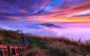 Обои небо, горы, облока