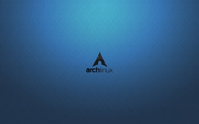 Обои Bluewave, Arch Linux, Linux