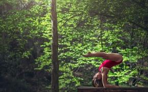 Картинка грация, бревно, гимнастка, упражнение, Marie-Lou Lagrange