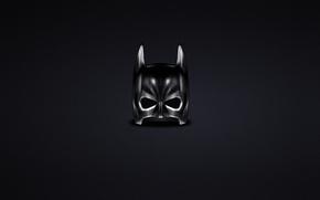 Картинка темный, минимализм, маска, Бэтмен, Batman, комикс