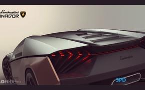 Картинка Lamborghini, Концепт, Ламборгини, Ганадор, SPD, Ganador