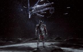 Картинка moon, Andromeda, Mass Effect, hyperion, ryder, n7
