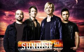 Картинка музыка, лого, состав, Samu Haber, Raul Ruutu, Sunrise Avenue, Pop rock, Rock music, Riku Rajamaa, ...