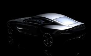 Обои ONE 77, серебро, Aston Martin