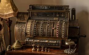 Картинка старина, ретро, древность, касса, Cash post office