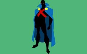 Обои минимализм, Minimal, DC Comics, Justice League, Лига Справедливости, Martian Manhunter, Марсианский охотник