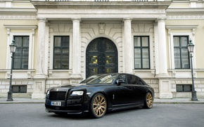 Картинка Rolls-Royce, Ghost, роллс-ройс, 2015, Spofec Black One