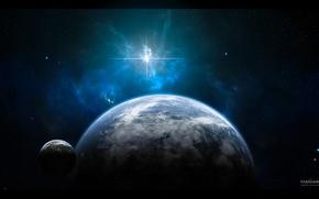 Обои земля, космос, звезды