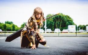 Картинка девушка, меч, доспехи, cosplay, Guild Wars, Jora