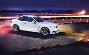 Обои бмв, вечер, спереди, autowalls, BMW 1M