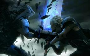 Картинка битва, Final Fantasy, Клауд, Сефирот