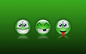 Обои Зелень, Смайлы, Улыбки