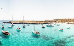 Картинка пляж, океан, лодка, остров, рай, яхта, катер, панорама, парус, photo, photographer, Andrés Nieto Porras