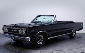 Картинка фон, GTX, кабриолет, 1967, Plymouth, передок, Muscle car, Convertible, Мускул кар, 426, Hemi, Плимут, Бельвидер, …