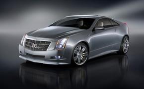 Обои серебристый, Cadillac, CTS