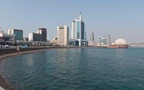 Картинка море, город, циндао