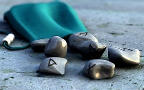 Обои Камни, знаки, чехол