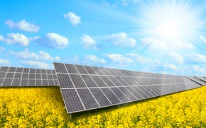 Обои solar panels, natural resources, solar energy