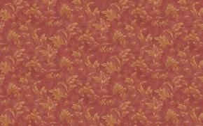 Обои красный, фон, обои, листья, растительные узоры, орнамент, ветки, винтаж, текстуры