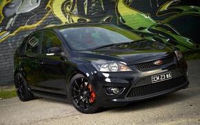Картинка Ford, Focus, black, graffity
