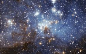 Картинка космос, звезды, туманность, space, nebula, stars, LH 95