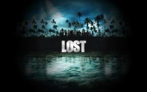 Картинка вода, пальмы, остров, Lost