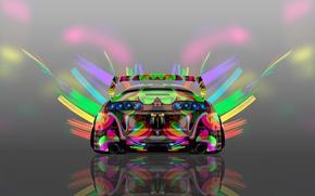 Картинка Авто, Дизайн, Неон, Машина, Яркая, Стиль, Серый, Обои, Фон, Toyota, Арт, Art, Абстракт, Photoshop, Фотошоп, ...